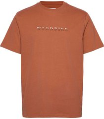 our boxy broid tee t-shirts short-sleeved orange woodbird