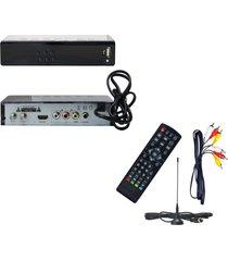 decodificador tdt receptor tv digital t2 antena + camiseta selecion