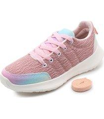 tenis dama rosa por arcoiris tellenzi t92