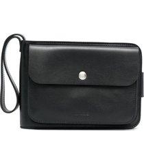 jil sander embossed logo multi-pocket wallet - black