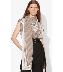 proenza schouler logo print scarf top peach/white/dove scarf/neutrals 2