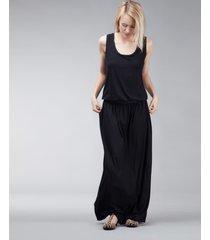 sukienka długa z kieszeniami