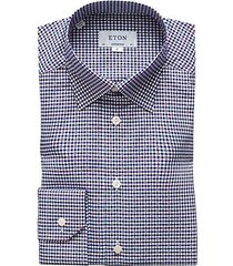 contemporary-fit gingham dobby shirt