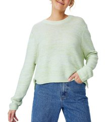 women's cotton cropped pullover