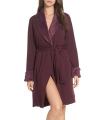 women's ugg blanche ii short robe, size x-small - burgundy