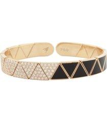 black enamel & diamond elixir bracelet