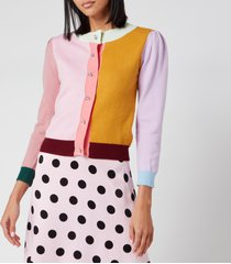 olivia rubin women's dee cardigan - colourblock - l