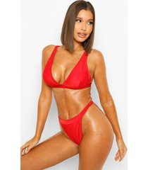 essentials bikini top met laag decolleté en volle cups, red