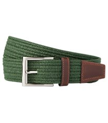 jos. a. bank braided textile & leather belt - long clearance