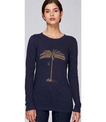 longsleeve golden palm tree