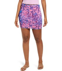 women's bp. be proud by bp. gender inclusive print mesh tube skirt, size x-large - pink