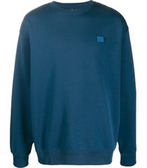 acne studios cotton oversized sweatshirt - blue