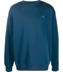 acne studios cotton oversized sweatshirt - blue
