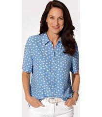 blouse mona lichtblauw::wit