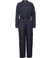 krystal padded jumpsuit jumpsuit blå modström