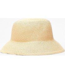 womens straw-berry fields bucket hat - cream