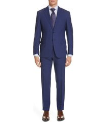 men's canali siena soft regular fit plaid wool suit