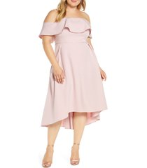 plus size women's chi chi london curve wanda off the shoulder party dress