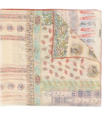 etro ornate-print chiffon scarf - neutrals