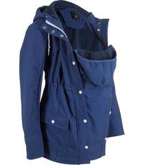 giacca prémaman in softshell con con inserto babywearing (blu) - bpc bonprix collection