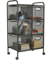 mind reader 6 drawer heavy duty multi-purpose cart