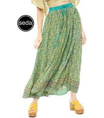 falda pippa angkor verde - calce holgado