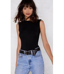 womens a crew lease of life high neck bodysuit - black