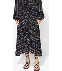 proenza schouler crepe stripe tied skirt black 8