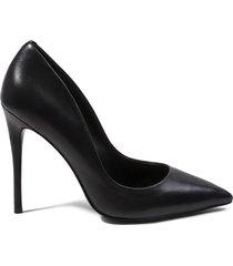 tacones daisie black leather - steve madden