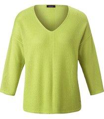 trui met v-hals en verlaagde schoudernaden van basler groen