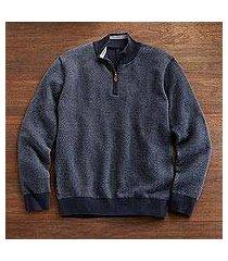 men's pima cotton sweater, 'el misti' (peru)