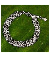 sterling silver chain bracelet, 'adorable lace' (thailand)