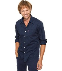 camisa azul levi's classic one pocket