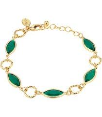 2028 14k gold dipped link bracelet