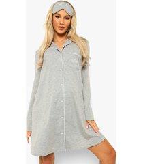 zwangerschap 3-delige mama pyjama set, grey marl