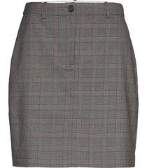 y/d pow check mini skirt kort kjol grå tommy hilfiger