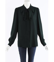 michael kors collection gathered silk blouse