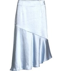 puk skirt knälång kjol blå résumé