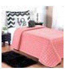 cobre leito rosê infantil solteiro menina 5 peças com almofadas decorativas