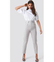 na-kd classic pinstriped cigarette pants - grey