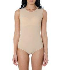 maison margiela stretch-jersey nude color bodysuit