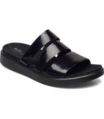 flowt w shoes summer shoes flat sandals svart ecco