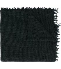 faliero sarti micro-plaid scarf - black