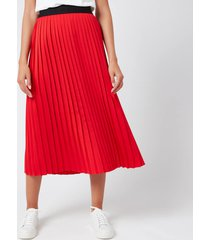 hugo women's ralissy 1 midi skirt - open pink - uk 12/eu 40