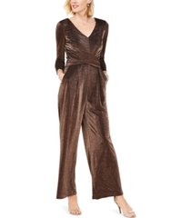 jessica howard ruched glitter jumpsuit