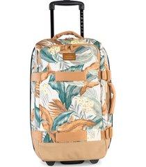 rip curl f-light transit tropical wheelie 50-liter travel bag - white