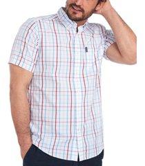 barbour men's tattersall woven cotton shirt