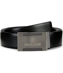 textured leather belt