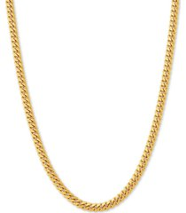 """cuban link 24"""" chain necklace in 18k gold-plated sterling silver"""