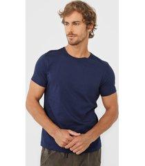 camiseta sergio k lisa azul-marinho - kanui
